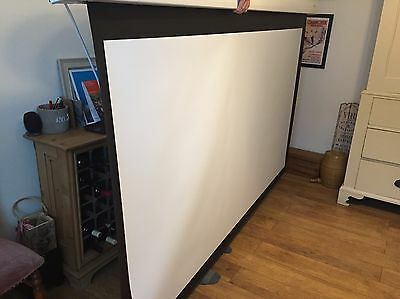 "Electric Motorised 16:9 Projector Screen With Remote Sapphire M92 92"" Screen VGC"