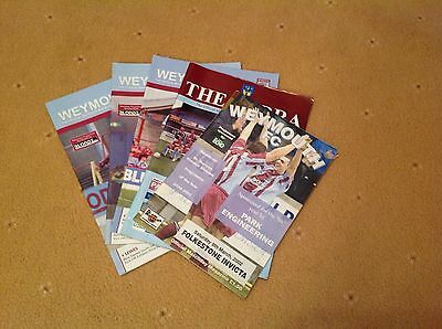 A Collection Of 5 Weymouth FC football  Programmes
