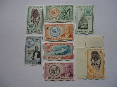 Sierra Leone 1961 SG223-230 1/2d-1s MNH Independence