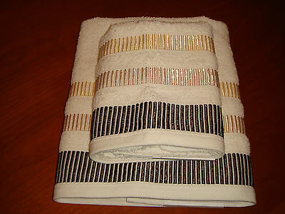 Luxury Hand Towel And Bath Towel, 100% Pure Cotton Soft Towels Cream