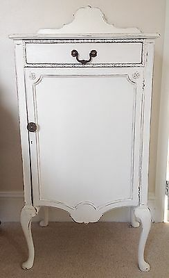 Bedside Table / Cabinet Painted Shabby Chic Mahogany Reproduction Very Pretty