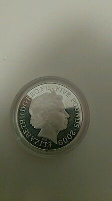 2009 £5 Five Pound FLYING SCOTSMAN London 2012 Olympic Games Silver Proof Coin