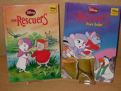 DISNEY Wonderful World Of Reading 2009 & 2012 The Rescuers  - 2 Books EXCELLENT