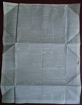 Antique Victorian The Times August 1891 Newspaper