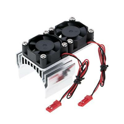 RC Car 540 550 3650 Cover Motor Heat Sink Twin Cooling Fan 1/10 Argent