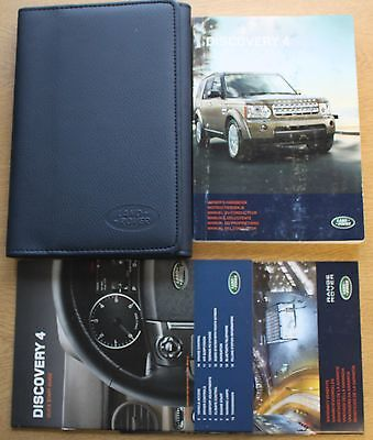 Land Rover Discovery 4 Handbook Owners Manual Wallet Navi 2009-2013 Pack 11515