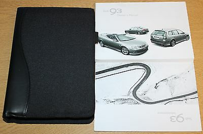 Genuine Saab 9-3 Owners Manual Handbook Wallet 2002-2007 Pack 5972