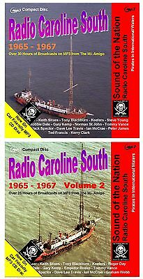 Pirate Radio Caroline South Vols 1 & 2 Over 55hrs NOW on MP3 Car Friendly Disc