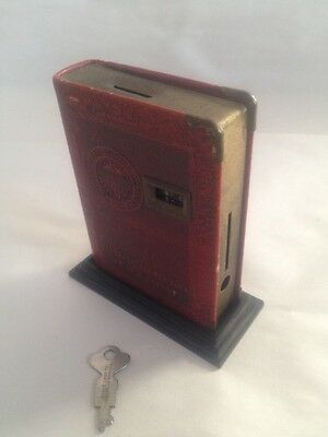 Vintage 9th Federal New York Coin Book Bank w/ Key Zell Products USA Dime A Day