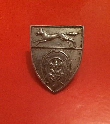 Fox Hunting Supporters Club Member Hunting Pin Badge Brooch