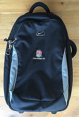Player issue: England Counties Rugby Wheelie Travel Case - RARE
