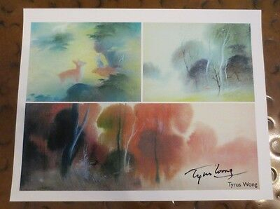 Tyrus Wong (dec) artist signed autographed photo designed look of Disney's Bambi