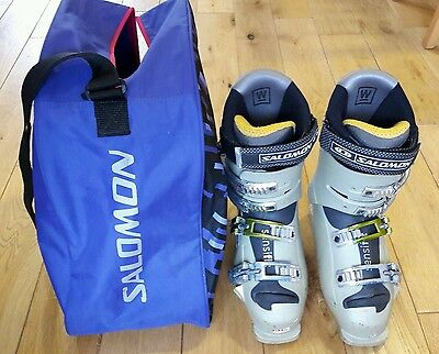 Salomon xwave 9.0 Womans Ski Boots mon 25.5 with boot bag