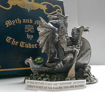 Myth And Magic - Dragon Adventurer Boxed Figure By Tudor Mint