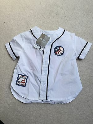 Next Baby Boy 3-6 Month Baseball Shirt Brand New With Tags