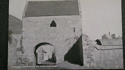 Alex Chegwin card - Tholsel entrance to Carlingford, Co Louth Ireland