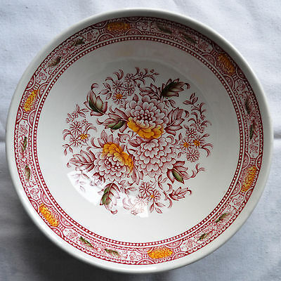 """Ridgway  ironstone """"Canterbury"""" cereal/soup bowl"""
