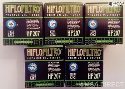 Suzuki FL125 Address (2007 to 2010) HifloFiltro Oil Filter (HF207) x 5 pack