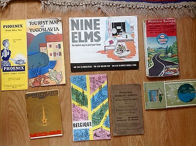 Miscallanious collection of 1950s and 60s paper Ephemera