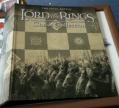 2 Eaglemoss Lord Of The Rings Chess Magazine Folder Binder