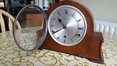 Bentima Westminster 8 Day Chime Antique Mantle Clock Serial Number 262390