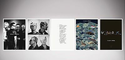 5 U2 serigraph silk screen prints 60x45cm U2.com fan club limited edition