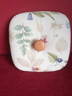 BOTANICAL FIELDS  LID by HEART of DRESDEN fits Longaberger SMALL SPOON Basket