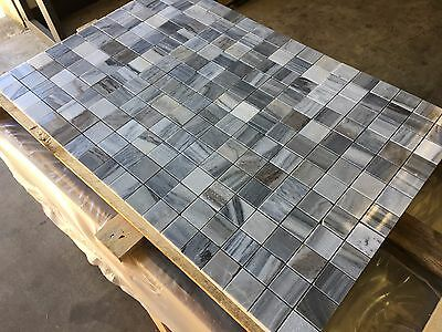 Marble Mosaic, Polished Skyfall Marble Mosaic Tiles, 100X100MM SAMPLE