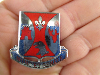 """Us Army 132Nd Engineering Battalion Di Dui Crest Pin Back With """"10""""hallmark"""
