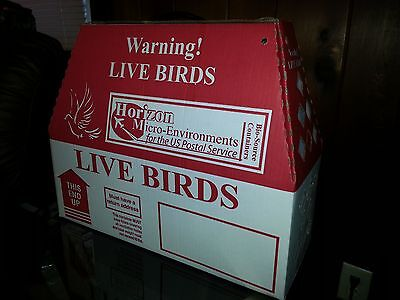 2 Pack HORIZON Shipping Boxes for Live Birds - FAST FREE SHIPPING. Game Birds