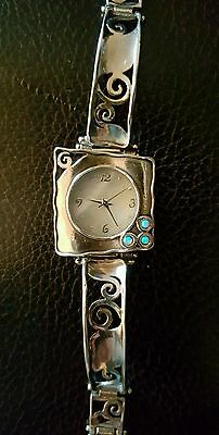 from the Holy Land of Israel Lady's Silver amd Opalite watch