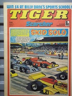 Tiger And Scorcher Comic;30Th July. 1977.hampshire Cricket Teamcolour Centrefold