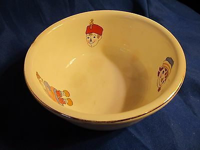 Vintage 1941 Raggedy Ann And Andy Bowl Gold Rimmed