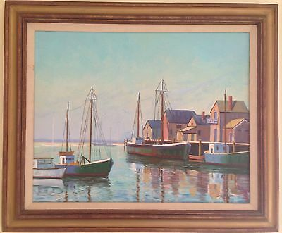 Nantucket Old South Wharf Painting on Canvas, J. Haslam '83
