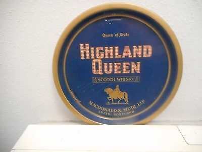 Old Highland Queen ,Scotch Whisky metal pub tray.