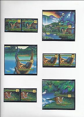 1998 United Nations  Rain Forest Preservation Miniature Sheets MNH (1797)