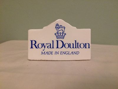 Royal Doulton China Advertising Retail Shop Display Sign/plaque