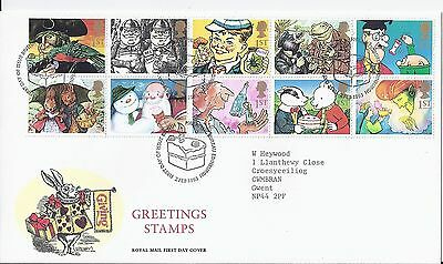 1993 Gift Giving Greeting Stamps FDC Edinburgh Philatelic at £12 (1814)