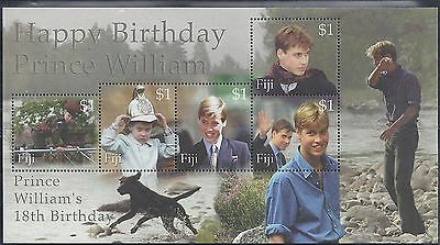 2000 Fiji 18th Birthday OF PRINCE WILLIAM Mini sheet Unmounted Mint (1727)