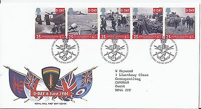 1994 GB 50th Anniv D-Day First Day Cover Edinburgh Bureau Nice Handstamps (1816)