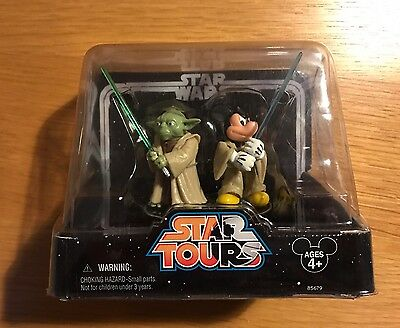 Star Wars Star Tours Jedi Mickey & Yoda Action Figures Disney Park Exclusive