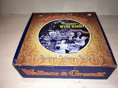 Wallace & Gromit The Curse Of The Were Rabbit Sculpted Collector Plate