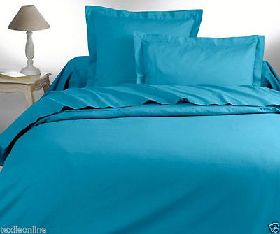 Plain Duvet Cover with Pillow Case Quilt Cover Bed Set Bid (Teal) Double