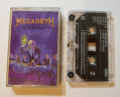 Megadeth - Rust in Peace – cassette tape (play tested)