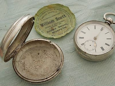 """1876 """"Andrew Foster, Morpeth"""" Silver Pair cased Fusee pocket watch, for repair"""