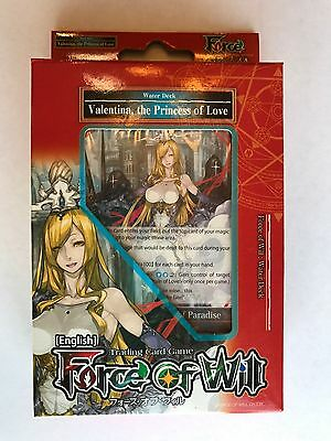 Force of Will starter deck, Valentina the Princess of Love - NEW