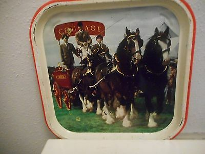 Old Courage metal pub tray.