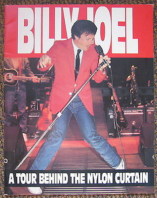 Billy Joel 1982 A Tour Behind The Nylon Curtain souvenir Tour Program Book