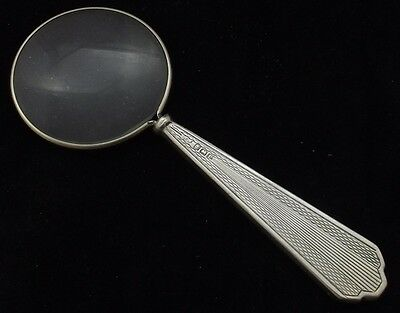 Magnifying Glass  With Art Deco Sterling Silver Handle Birmingham 1939