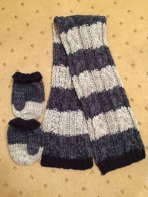 Next boys scarf and mittens, age 3-6 Years